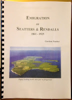 A self-published booklet on the emigration of the Seatter and Rendall families.