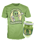 Pickle Rick Pop! Tee in Jar!