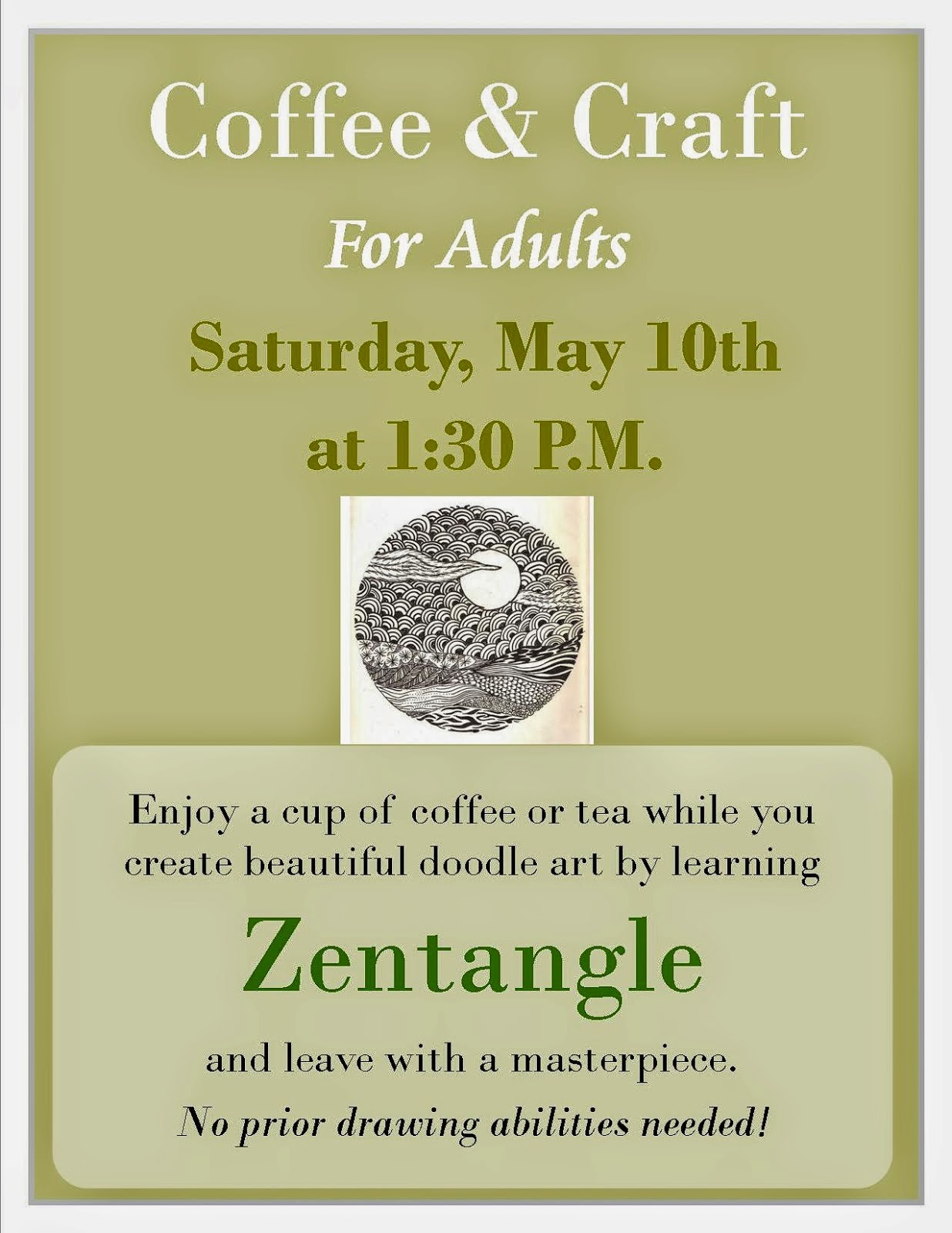 Coffee and Craft - zentangle