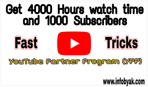 How to complete 4000 hours watch time and 1000 subscribers