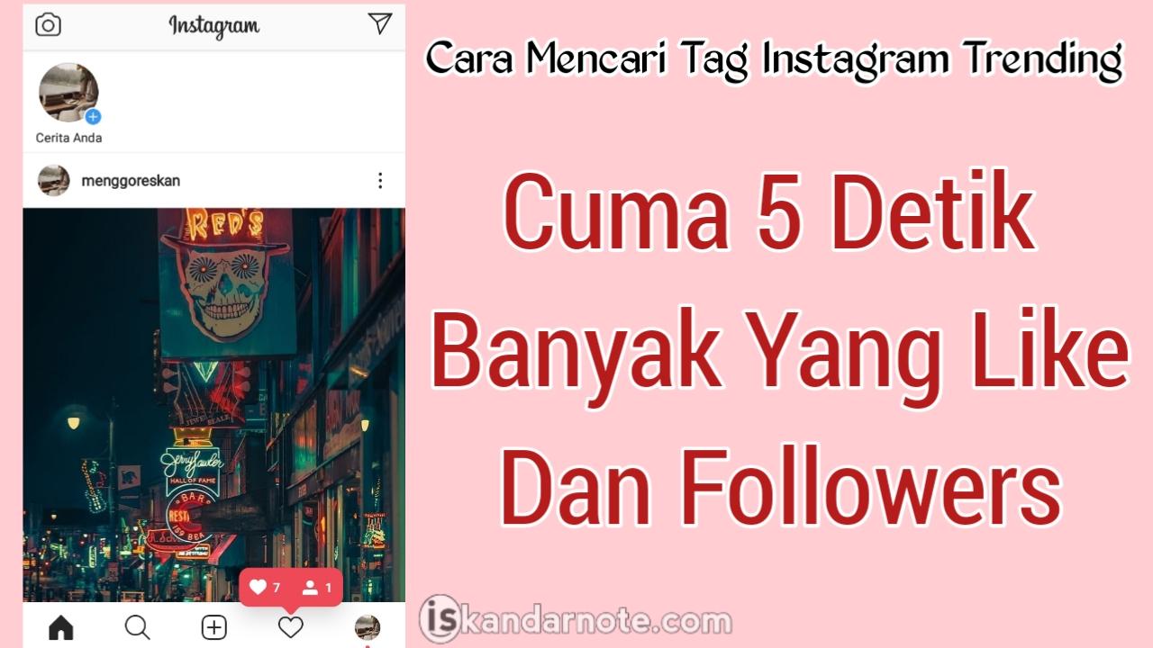 cara mencari hastag populer instagram