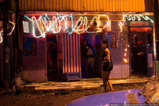 google street view catches prostitute