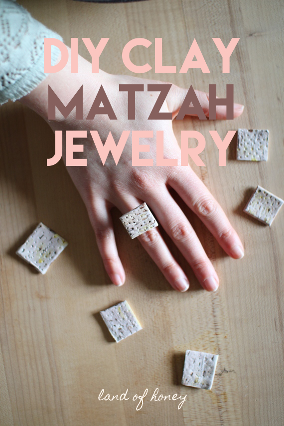 DIY Clay Matzah Jewelry - cute craft to celebrate Passover | Land of Honey
