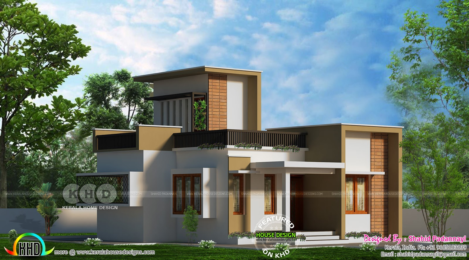 860 Sq Ft 2 Bhk House With Stair Room Kerala Home Design Bloglovin