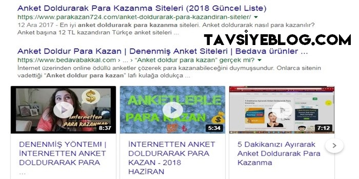 Anket Doldurarak Para Kazan # 1