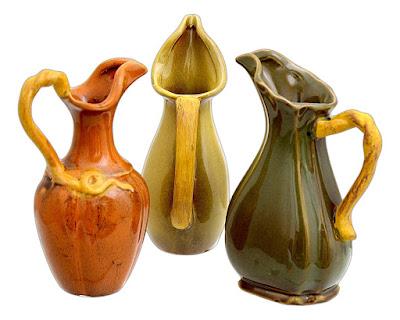 Decorative autumn pitchers