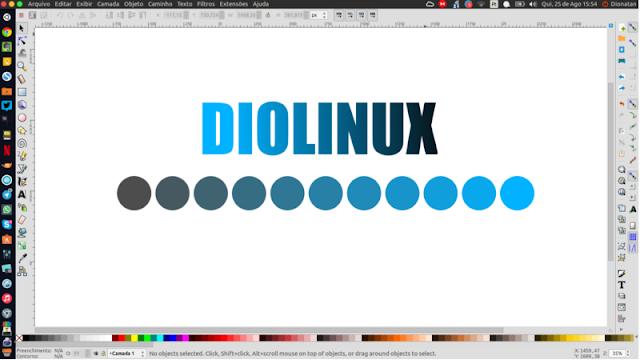 Como criar uma paleta de cores no Inkscape