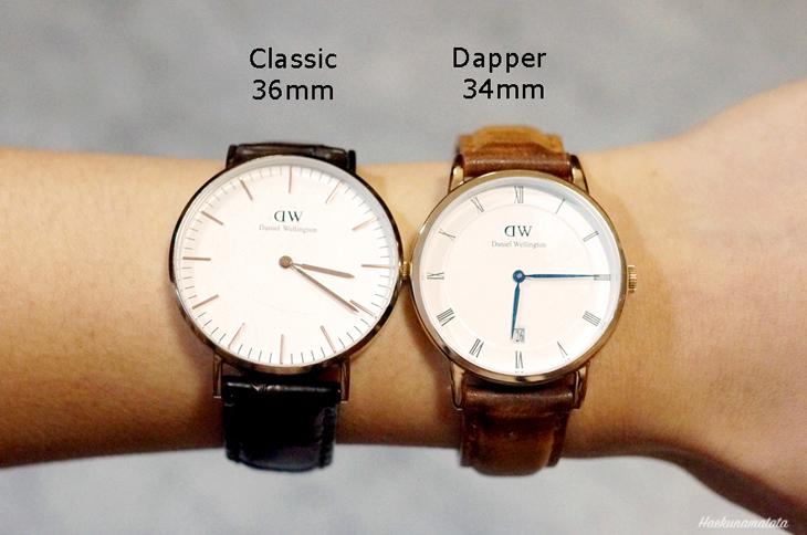 다니엘 웰링턴 여성시계: Dapper Durham 34mm & Classic 36mm 비교