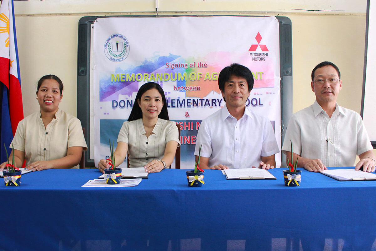 Mitsubishi Motors Philippines Corp. adopts Don Jose Elementary School