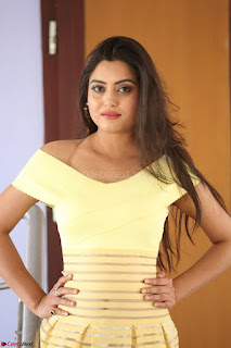 Shipra gaur in V Neck short Yellow Dress ~  031.JPG