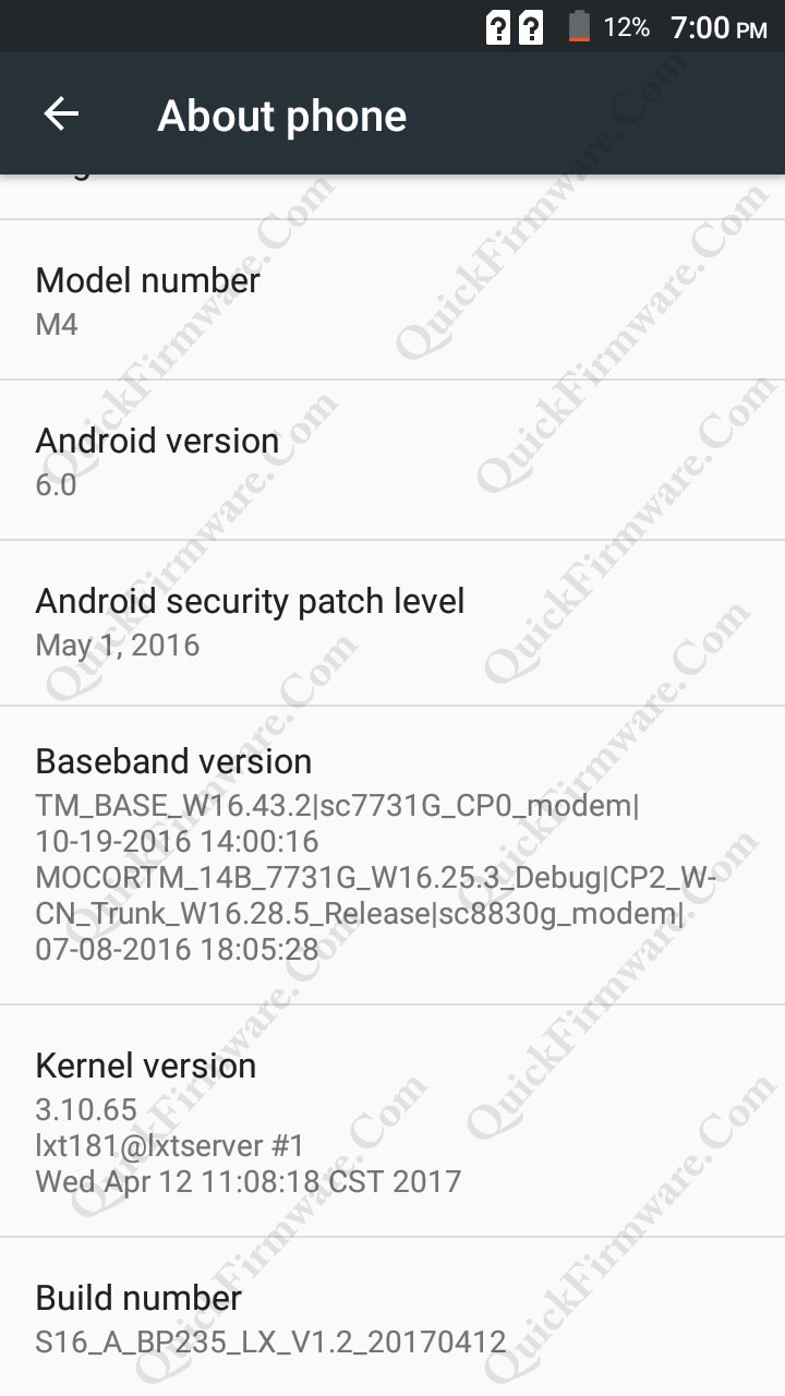 Oppo Clone Kimfly M4 Firmware Without Password - All Android MTK