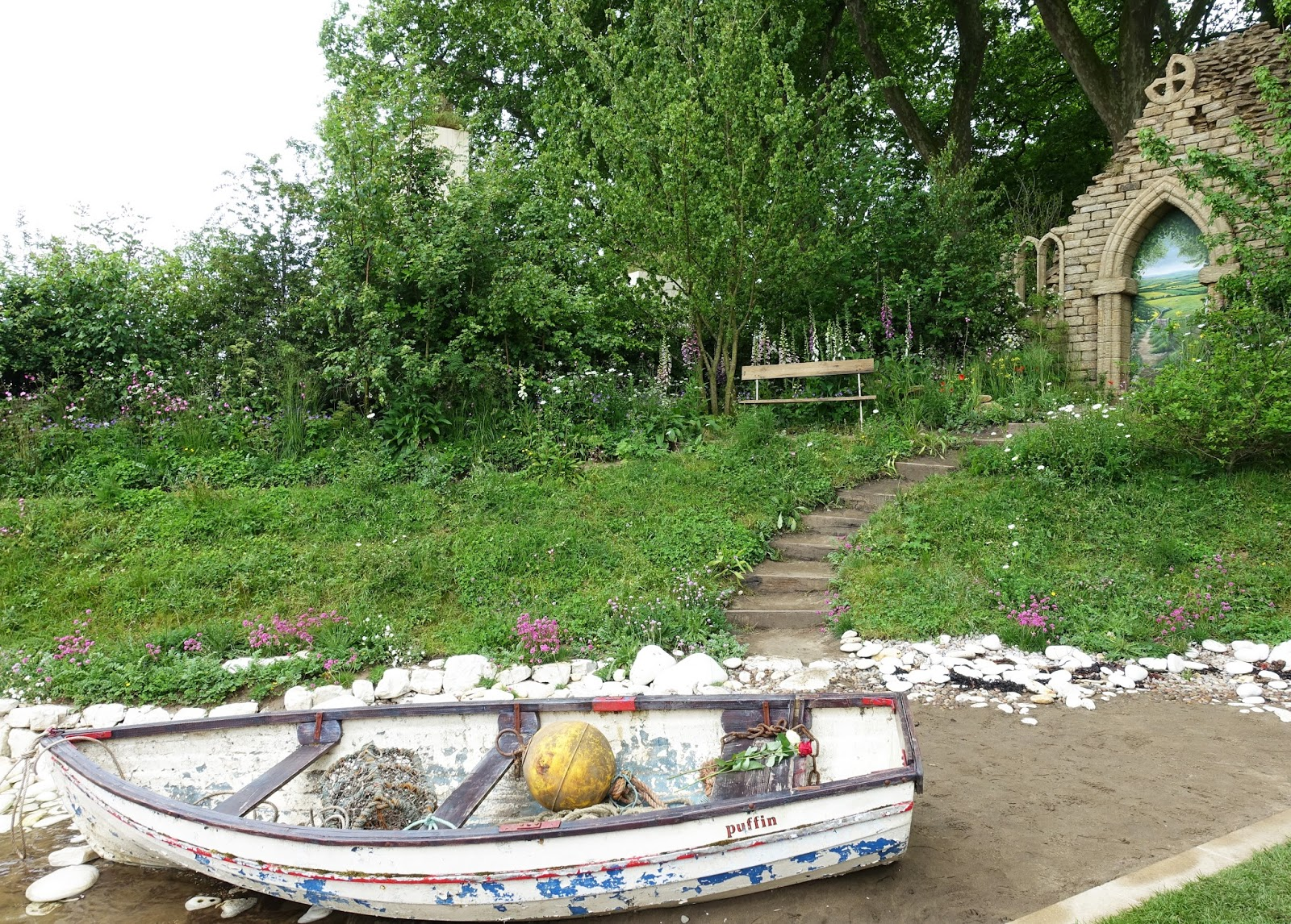 A boat is the centrepiece of Welcome to Yorkshire, silver medal winner at the Chelsea Flower Show 2017