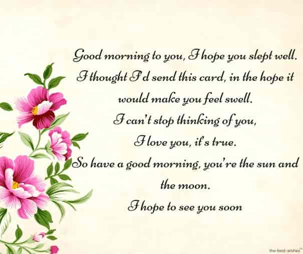 Romantic Good Morning Poems For Her Best Collection