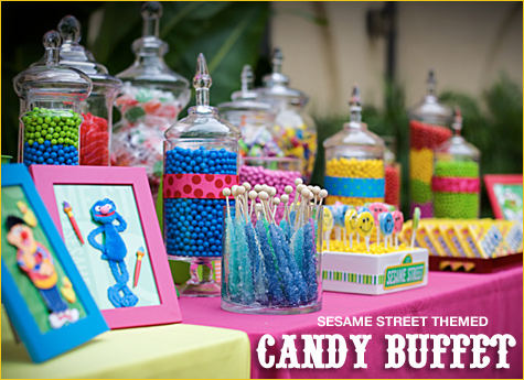 Party Hat Candy Buffet For Boys