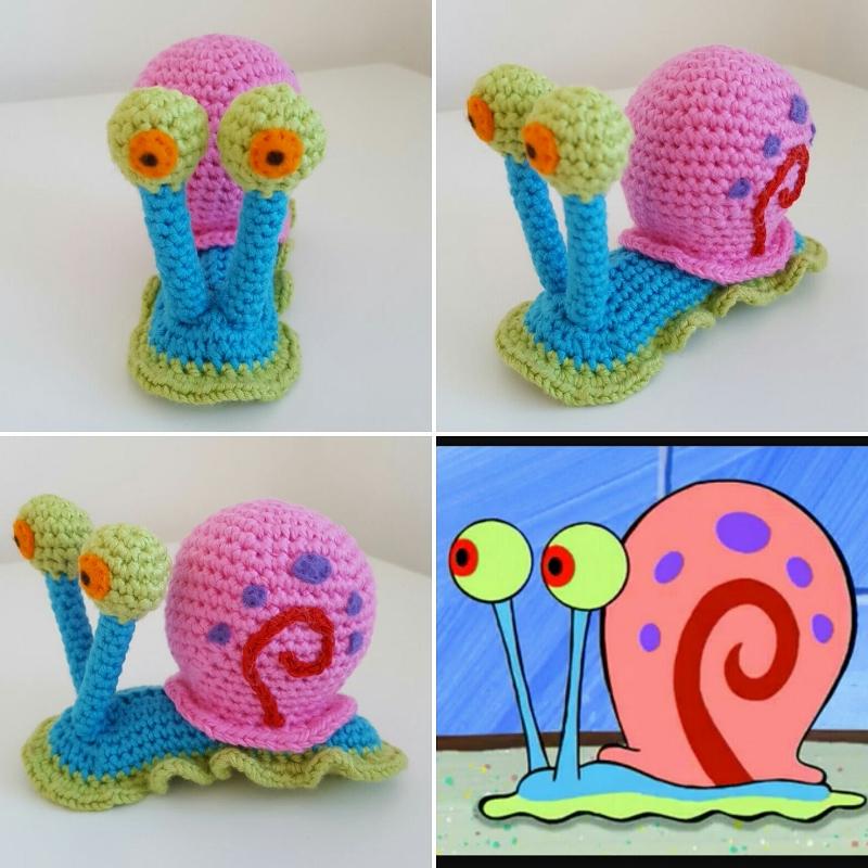 Dinki Dots Craft Crochet Gary The Snail