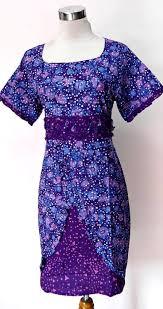 model Dress Pendek batik Kantor terbaru