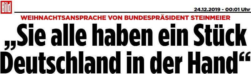 """Steinmeier: """"Sie alle haben ein Stück Deutschland in der Hand"""""""