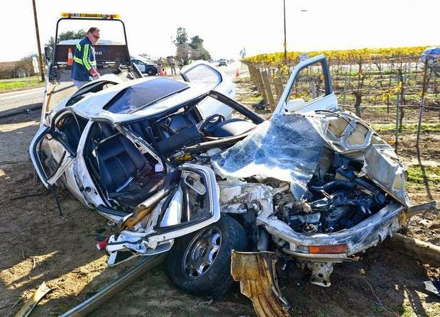 selma big rig accident tanker car collision fowler avenue fresno county