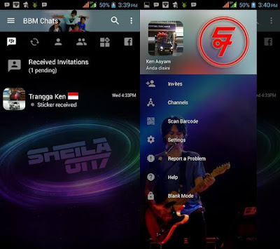 Download BBM MOD Sheila On 7 Transparan Theme Versi Terbaru v3.2.0.6 APK for Android