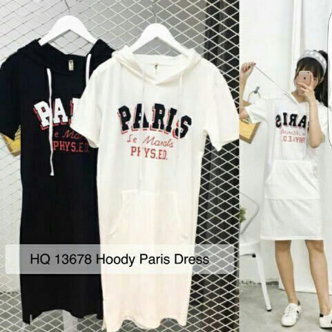 Jual Dress Dress Paris Hoodie - 12879