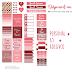 Planner semanal e adesivos Valentines
