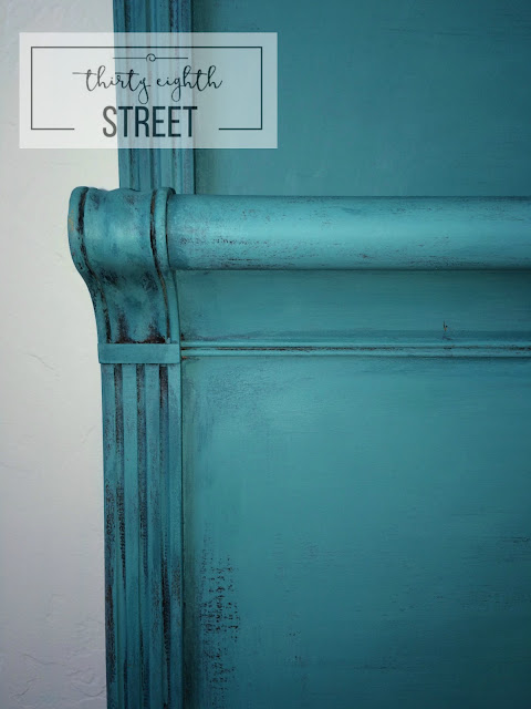 how to get a layered paint finish, how to create a patina with paint, diy, painting furniture, painting a bed, refinished bed, headboard makeover, bedroom makeover