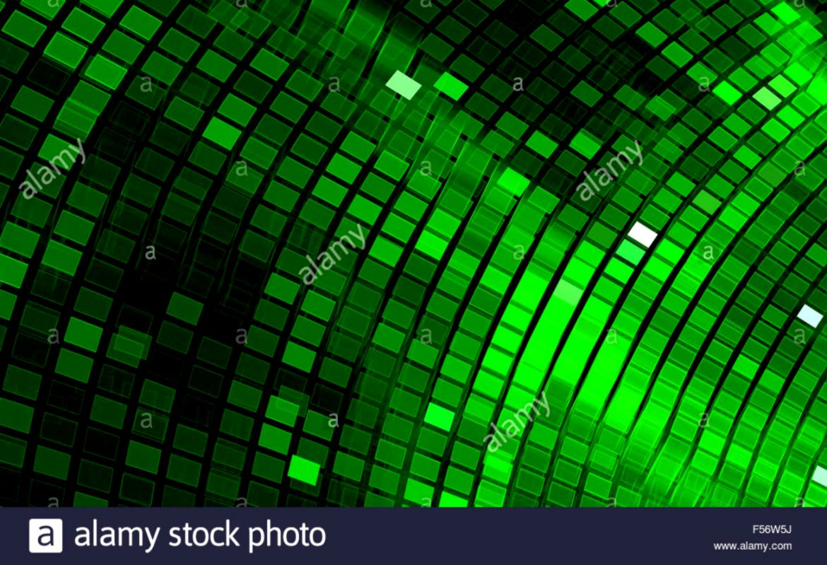 Abstract mosaic background Bright green disco mosaic Fractal art