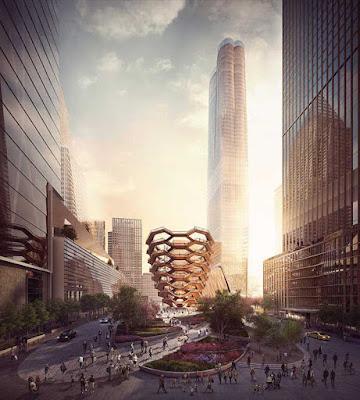 La estructura con infinitas escaleras en forma de panal de abeja en New York