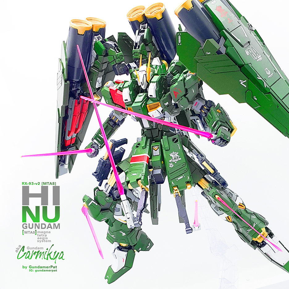 Custom Build: MG 1/100 RX-93-v2 [mtas] - Hi Nu Gundam Magna Tetra Aegis System - Gundam Kits Collection News and Reviews