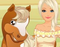 لعبة باربي مع حصانها