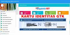 Daftar Verval Individu dan Cetak Kartu Identitas GTK