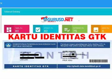 Cara Cetak Kartu Identitas GTK di Verval Individu GTK Kemdikbud