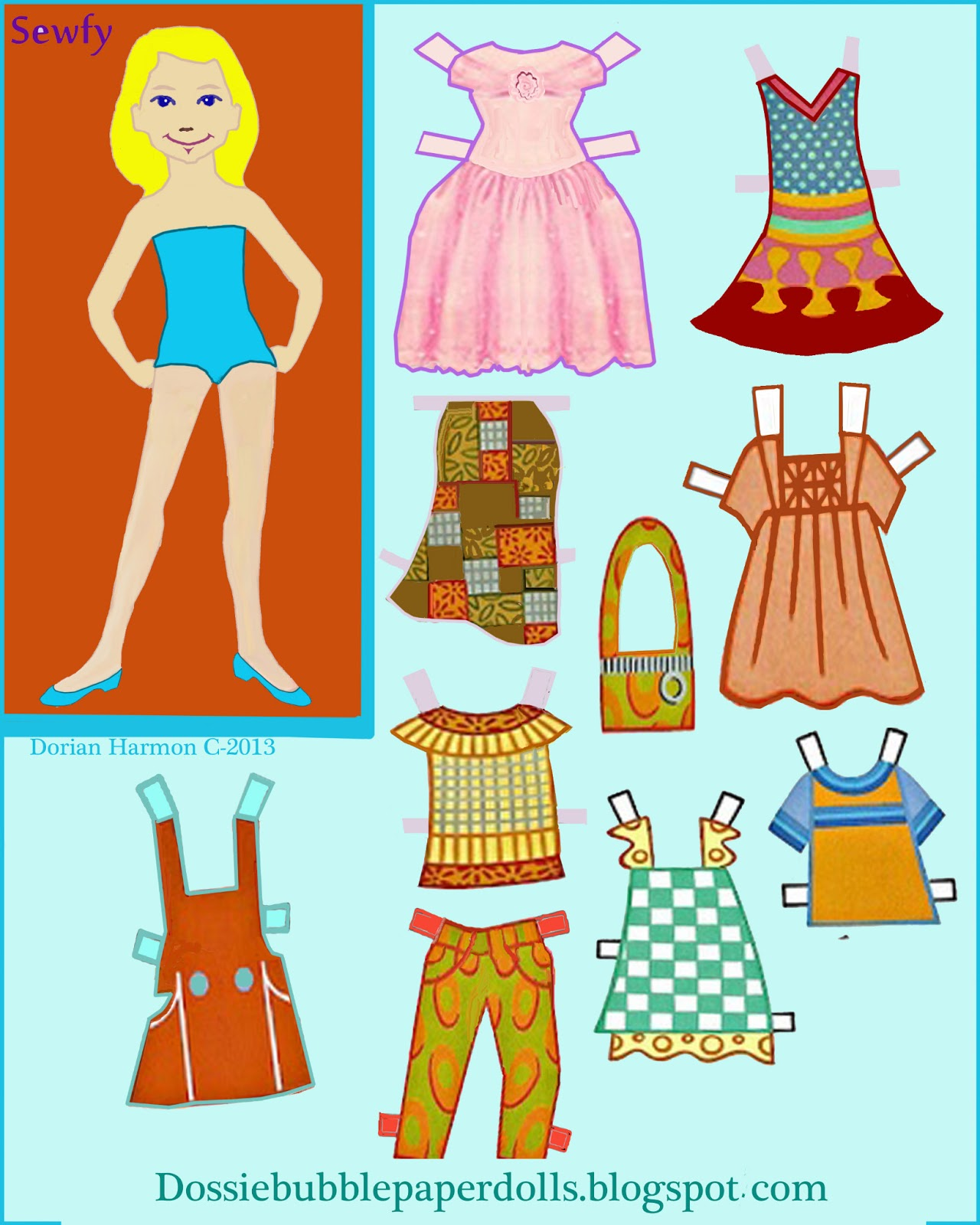 paper doll pattern - HD 1280×1600