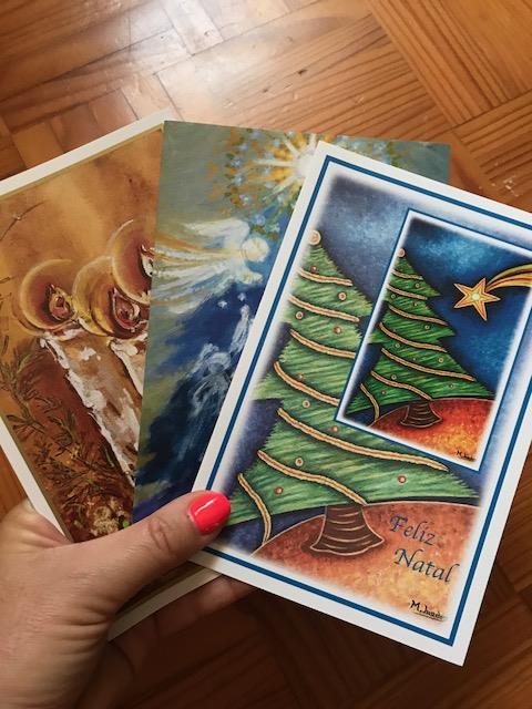postais dos Artistas Pintores com a Boca e o Pé