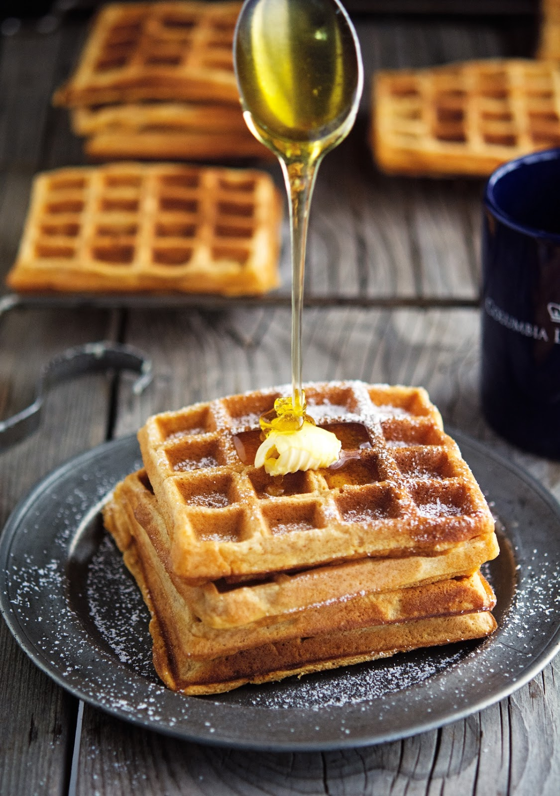Sweet Potato Pie Waffles