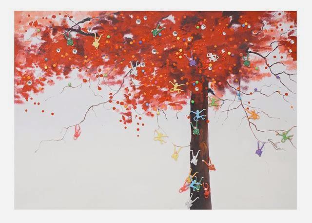 Δέντρο με μαιμουδάκια: πίνακας ζωγραφικής για παιδιά