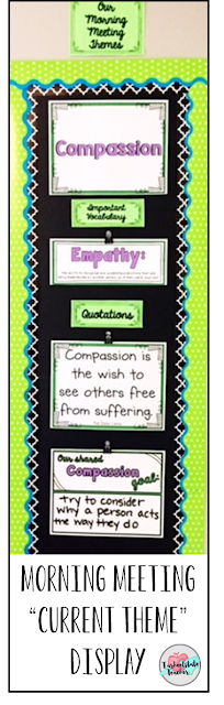Compassion Bulletin Board Morning Meeting Bulletin Board