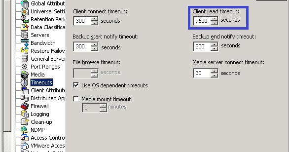 ♛ The ßackup Šchool ♛: NetBackup Error : Backup failing
