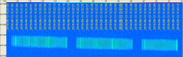 BugSat-1 signal on SpectraVue