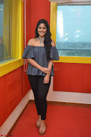 Mega Akash in a sleeveless Off Shoulder Cute Dress Stunnign beauty at Radio Mirchi Promoting Movie LIE ~ Celebrities Galleries 051.JPG
