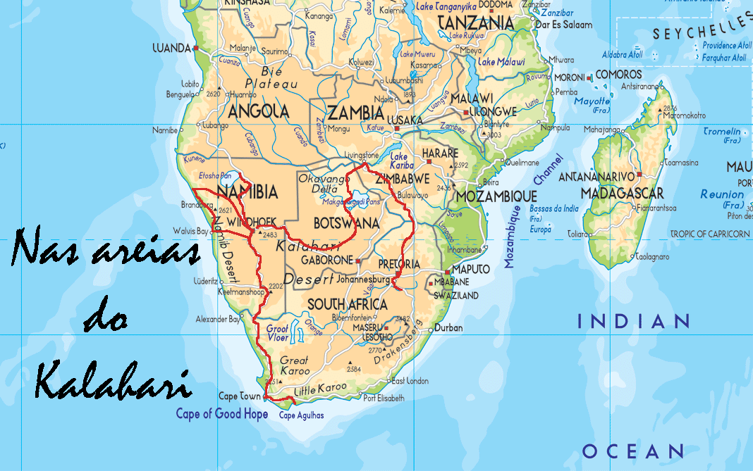 AS CORES DO KALAHARI - Um projecto de viagem por África Austral em 2015