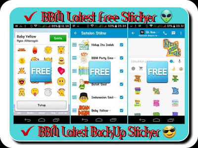 BBM Mod Free Sticker Versi 2.2.1.45 Apk (UPDATE Latest Version)
