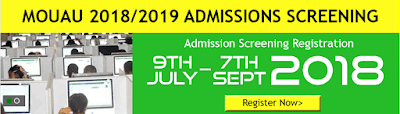 MOUAU 2018/2019 Post UTME Screening Results Out Online
