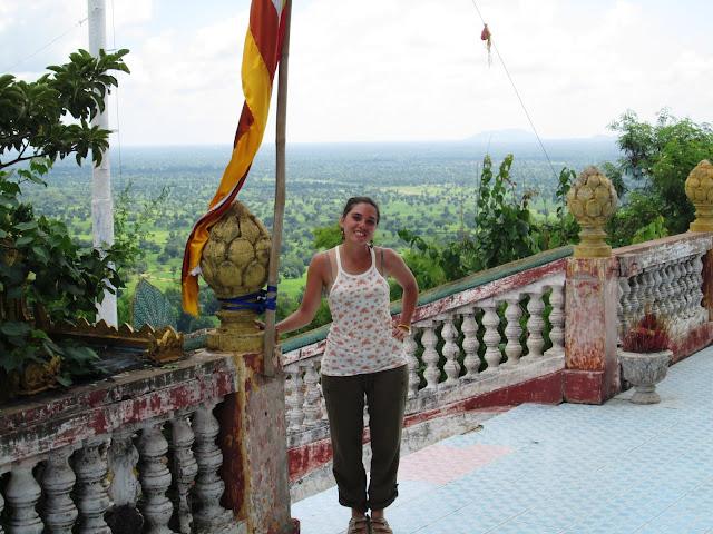 Vistas desde la pagoda en Battambang