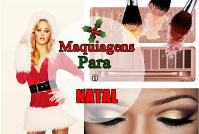 Maquiagens para o Natal Por Jully Cout-