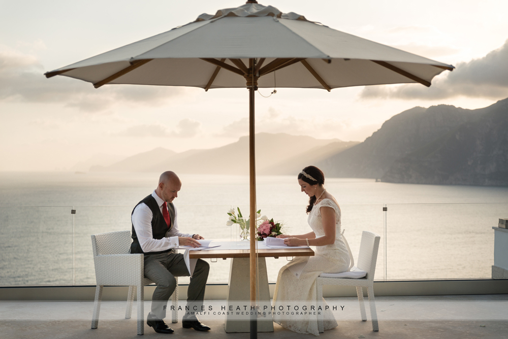 Elopement wedding Amalfi coast