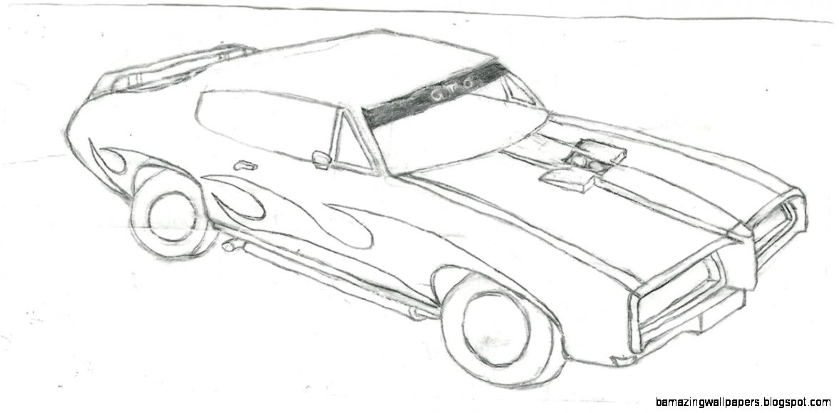 Cool Muscle Car Drawings Amazing Wallpapers