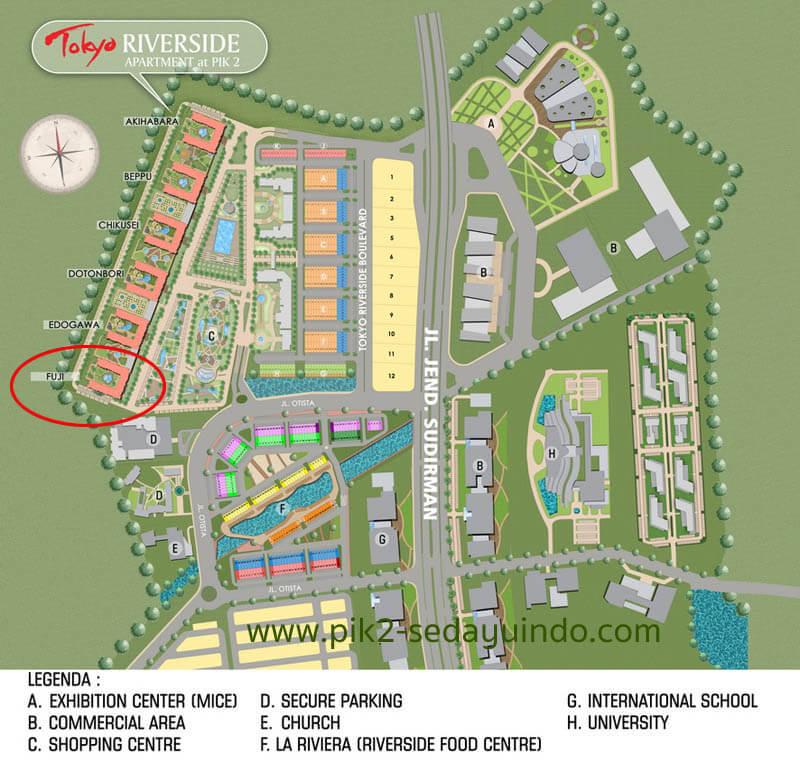 Site Plan Tokyo Riverside Apartment Jakarta