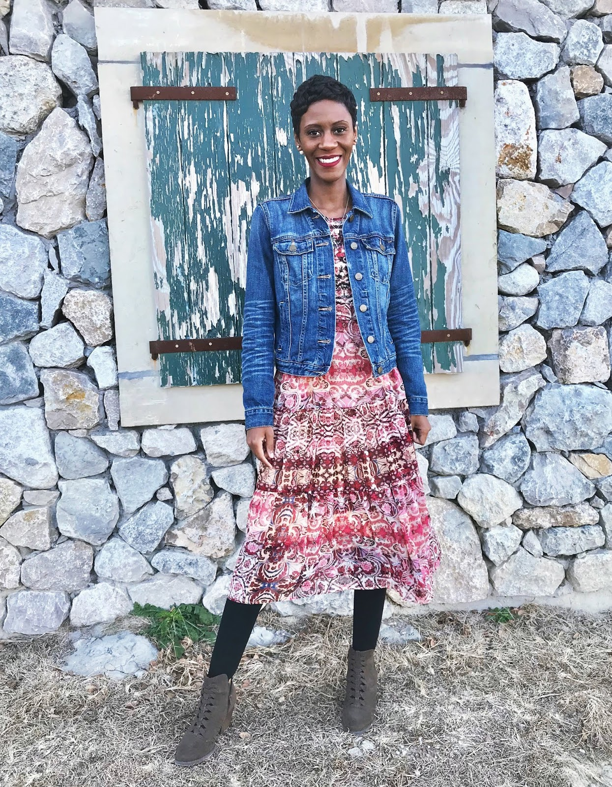 Restyling My Summer Dress For Fall Greatness