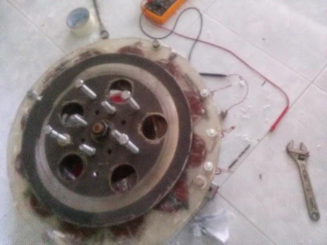 Test máy phát điện gió sau khi xong